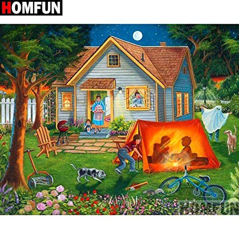 5D Diamond Painting Camping Out Kit