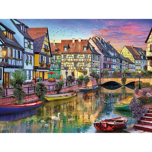 5D Diamond Painting Canal Homes Kit
