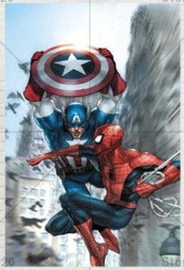 5D Diamond Painting Captain America and Spiderman Kit