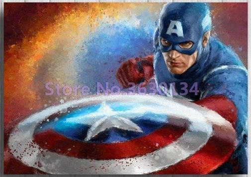 5D Diamond Painting Captain American Shield Kit