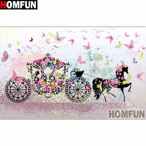 5D Diamond Painting Carriage of Flowers Kit