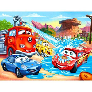 5D Diamond Painting Cars Having Fun Kit