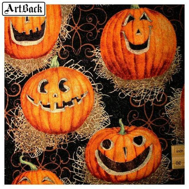 5D Diamond Painting Carved Pumpkins Kit