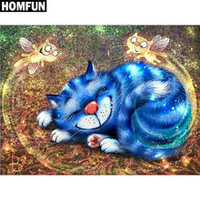5D Diamond Painting Cat Angels Blue Cat Kit