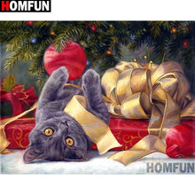 5D Diamond Painting Cat Christmas Fun Kit