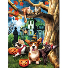 5D Diamond Painting Cat Halloween Tricks kit