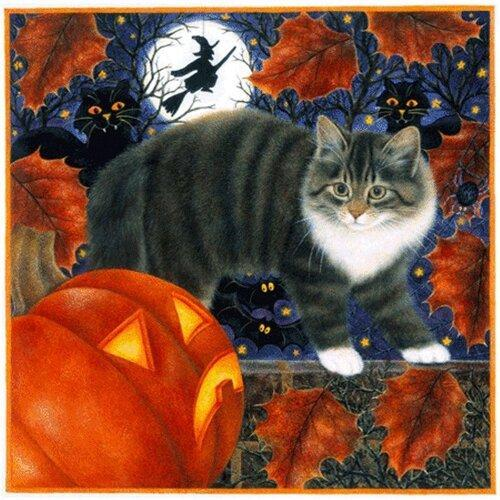 5D Diamond Painting Cats and Witches Kit