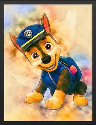 5D Diamond Painting Chase from the Paw Patrol Kit