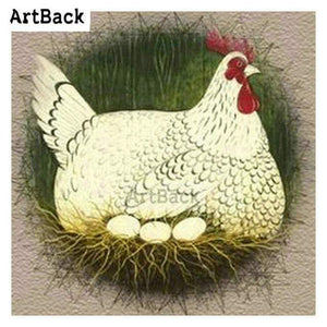 5D Diamond Painting Chicken and Eggs Kit