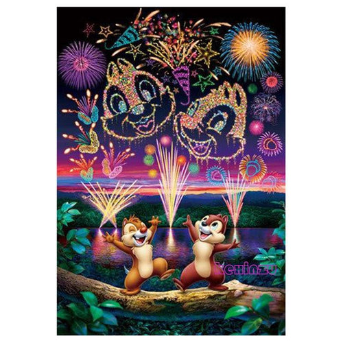 0e116f98c5 5D Diamond Painting Chip and Dale Fireworks Kit