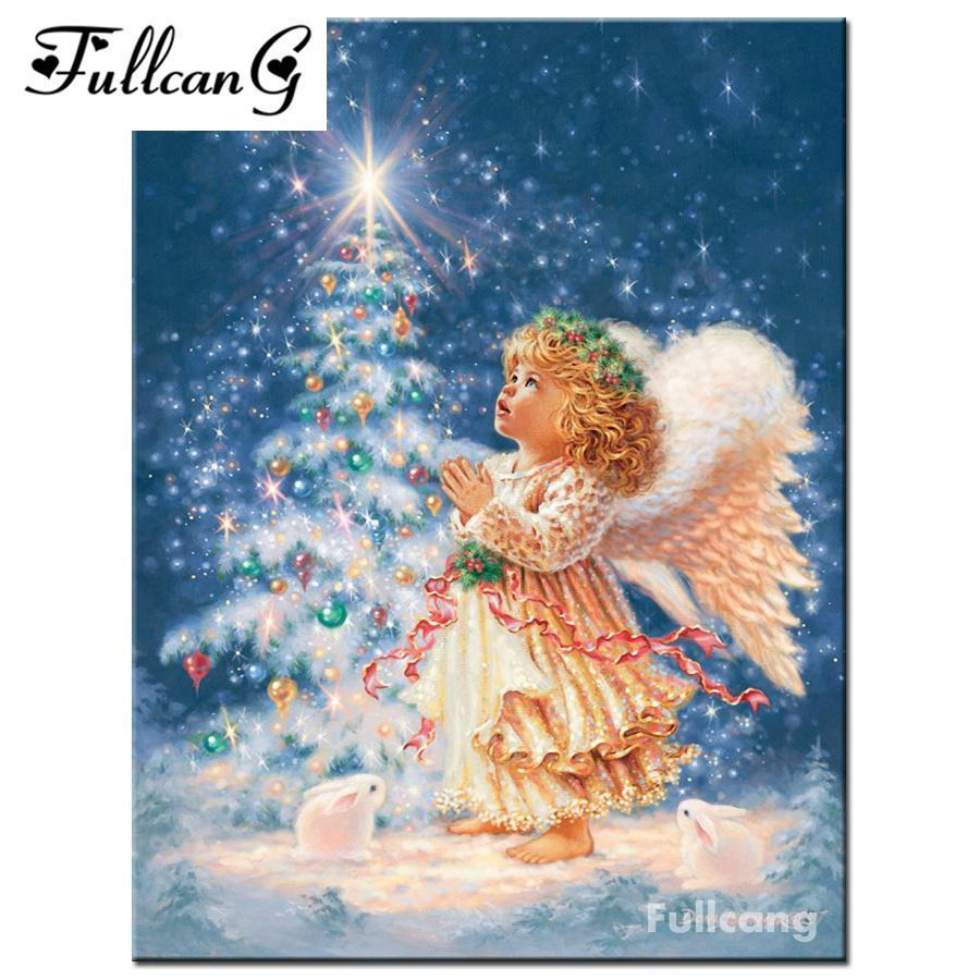 5D Diamond Painting Christmas Angel Kit