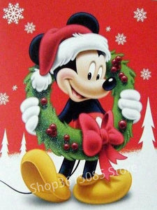 5D Diamond Painting Christmas Mickey Wreath Kit
