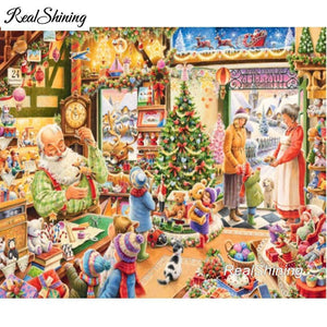 5D Diamond Painting Christmas Shop Kit