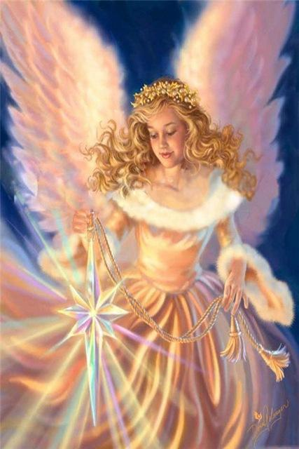 5D Diamond Painting Christmas Star Angel Kit
