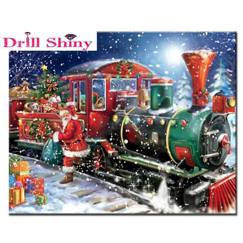 5D Diamond Painting Christmas Train Kit