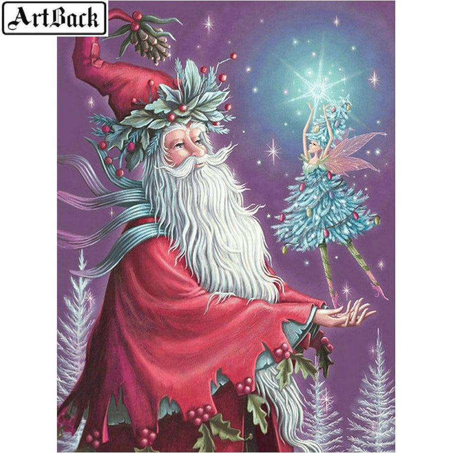 5D Diamond Painting Christmas Tree Fairy Kit