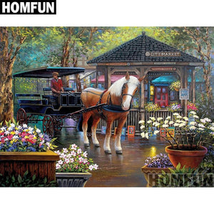 5D Diamond Painting City Market Carriage Kit