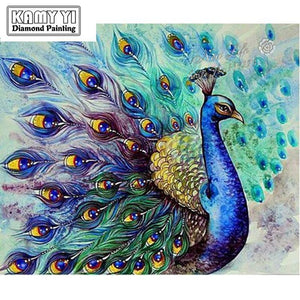 5D Diamond Painting Classic Peacock Kit