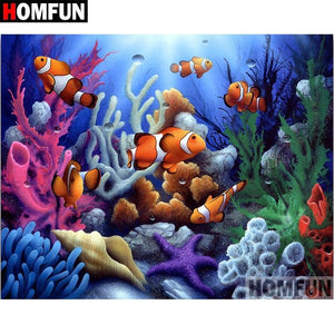 5D Diamond Painting Clown Fish Kit