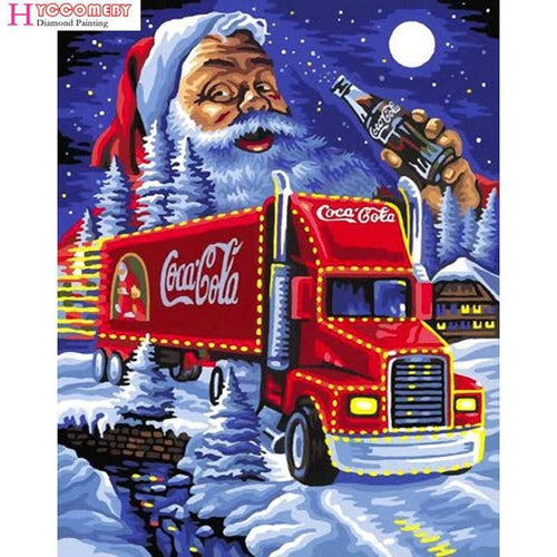 5D Diamond Painting Coca Cola Semi Christmas Kit