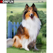 5D Diamond Painting Collie and Green Fields Kit