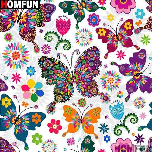 5D Diamond Painting Colorful Butterfly Pattern Kit