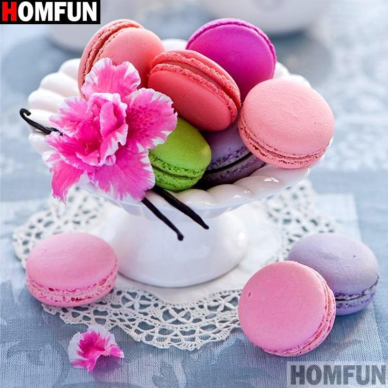 5D Diamond Painting Colorful French Macarons Kit