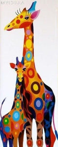 5D Diamond Painting Colorful Giraffes Kit