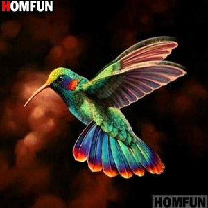 5D Diamond Painting Colorful Hummingbird Kit