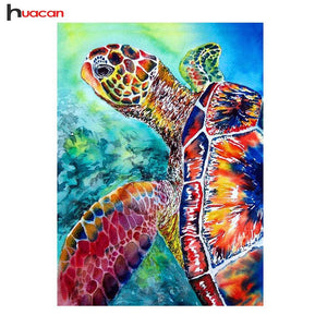 5D Diamond Painting Colorful Turtle Kit