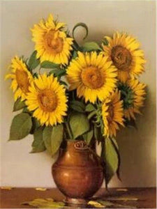 5D Diamond Painting Copper Vase of Sunflowers Kit
