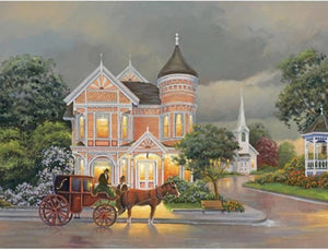 5D Diamond Painting Corner Mansion Kit