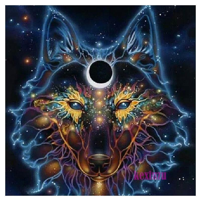 5D Diamond Painting Cosmic Wolf Kit