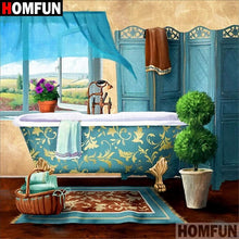 5D Diamond Painting Country Side Home Bathroom Kit