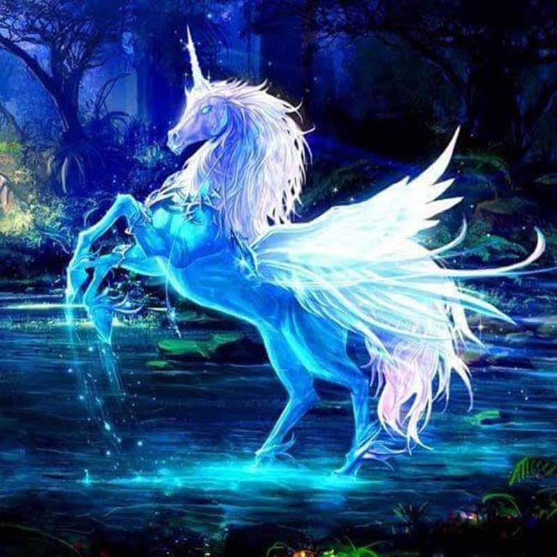 5D Diamond Painting Crystal Unicorn Kit