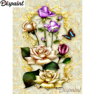 5D Diamond Painting Cut Out Roses Kit