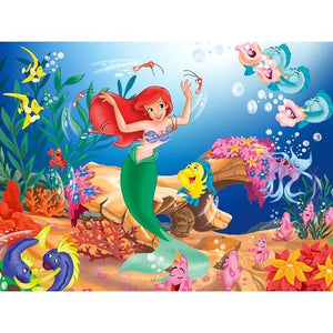 5D Diamond Painting Dancing under the Sea with Ariel Kit