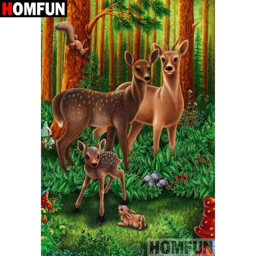 5D Diamond Painting Deer in the Forest Kit