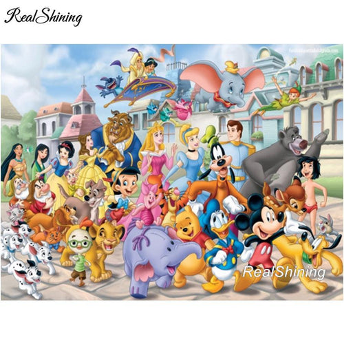 5D Diamond Painting Disney Character Collection Kit