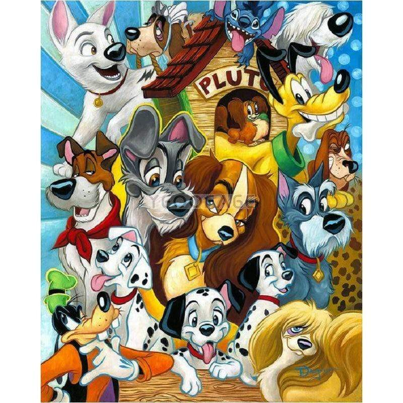 5D Diamond Painting Disney Dogs Collage Kit