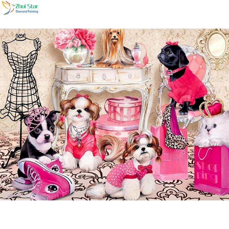 5D Diamond Painting Dog Dress Up Kit