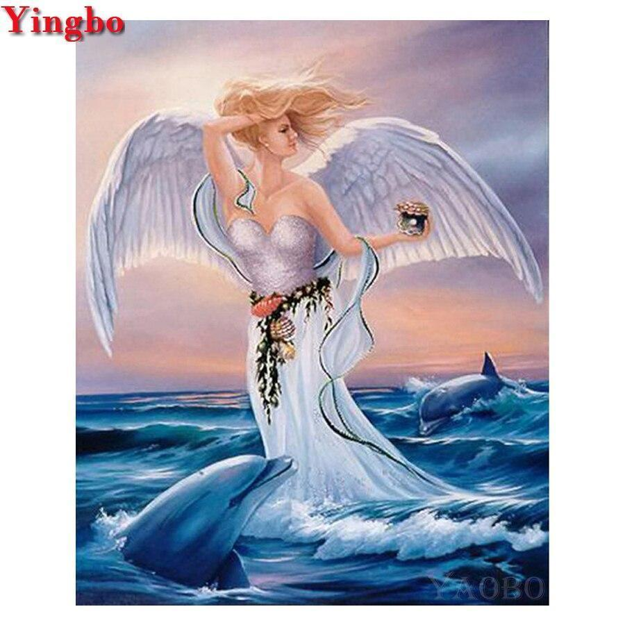 5D Diamond Painting Dolphin Angel Kit