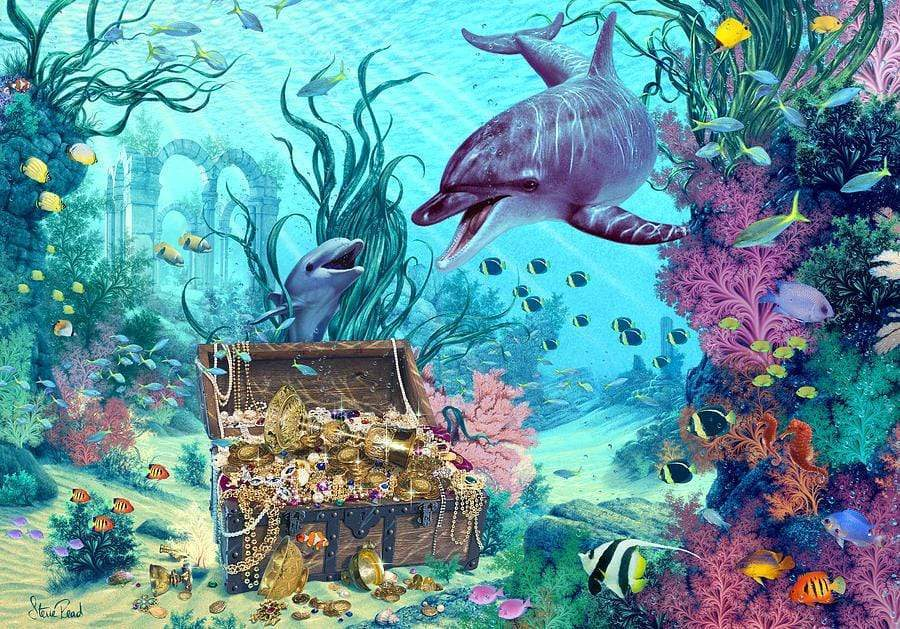 5D Diamond Painting Dolphin Treasure kit
