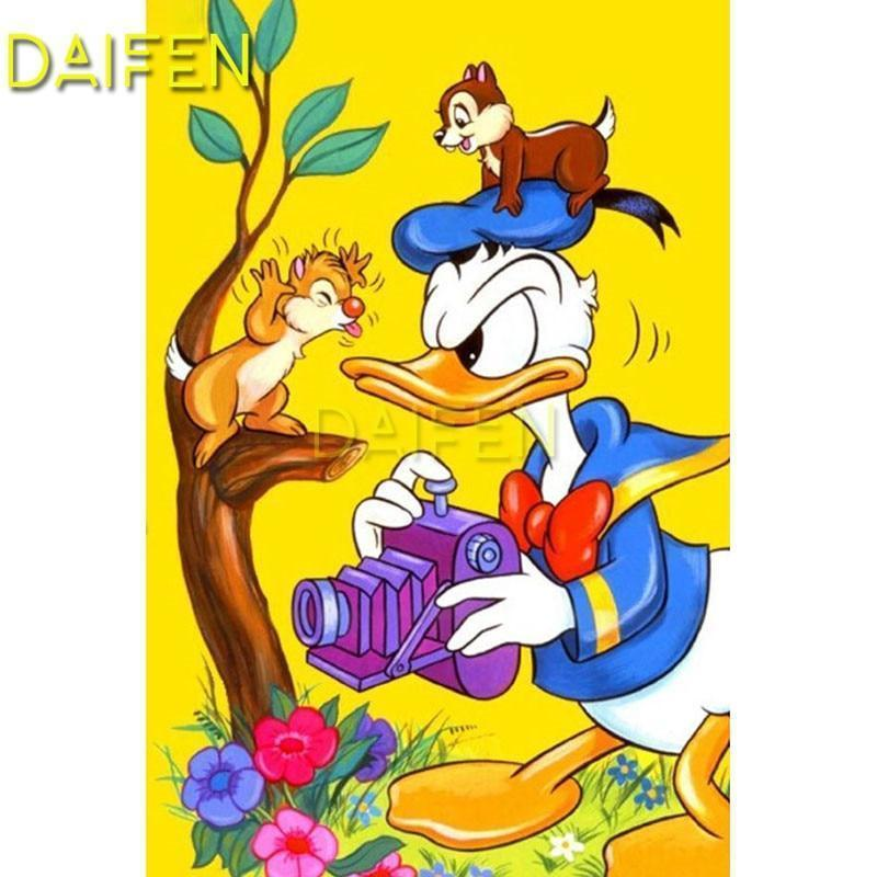 5D Diamond Painting Donald Duck with Chip & Dale Kit