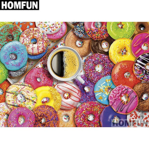 5D Diamond Painting Donuts Party Kit