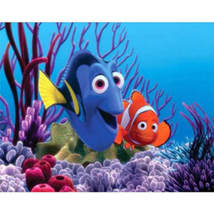 5D Diamond Painting Dory and Marlin Kit