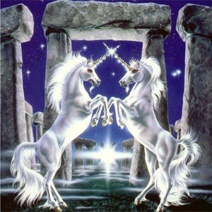 5D Diamond Painting Double White Unicorns Kit