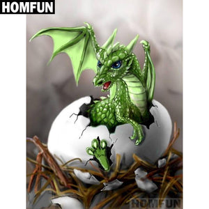 5D Diamond Painting Dragon Baby Kit