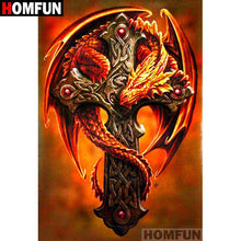 5D Diamond Painting Dragon Cross Kit