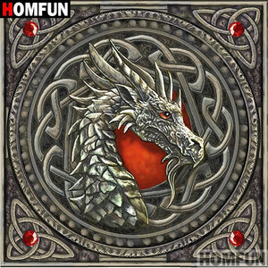 5D Diamond Painting Dragon Head Symbol Kit